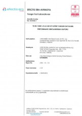 تقرير مقاومة الحرائق لألواح الصوف الصخري E60 100 مم