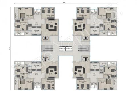 العمارة السكنية 4668 مترًا مربعًا - الطابقان الثالث والرابع