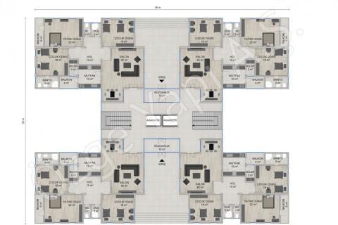 العمارة السكنية 4668 مترًا مربعًا - المخططات