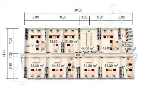 BKO 840 m2 - المشاريع النموذجية