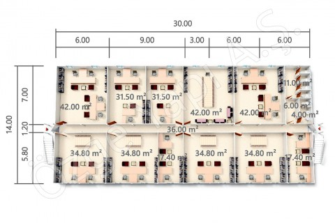 BKO 840 m2 - المخططات