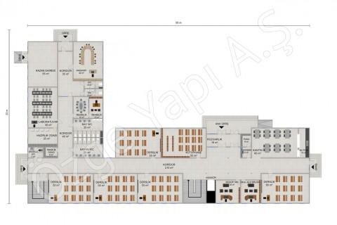 المدرسة الابتدائية 2388 مترًا مربعًا - المخططات