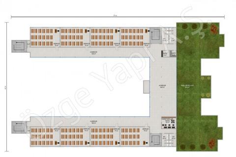 المدرسة الثانوية 3453 مترًا مربعًا - الطابق الأول والثاني