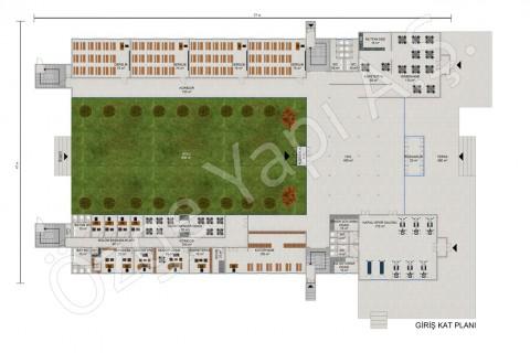 المدرسة الثانوية 3453 مترًا مربعًا - المخططات