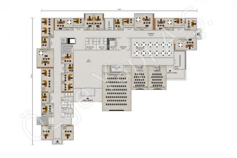 المكتب 3492 مترًا مربعًا - المخططات