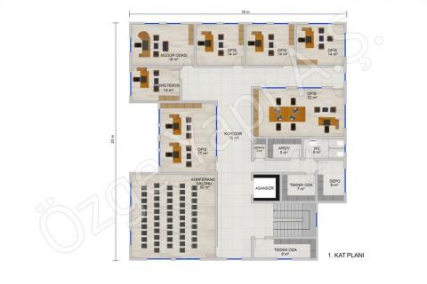 المكتب 697 مترًا مربعًا - المشاريع النموذجية