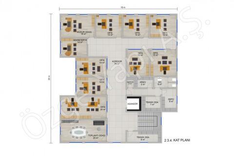 Office 697 m2 - الثانية والثالثة الطابق الرابع