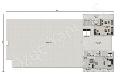 الفندق 8115 مترًا مربعًا - الطابق الثالث