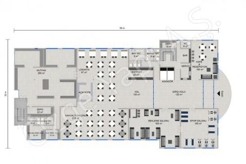 الفندق 8115 مترًا مربعًا - الطابق الأرضي