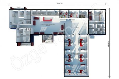 مكتب المبيعات 645 متر مربع