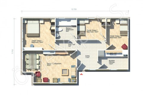 Açelya 88 m2
