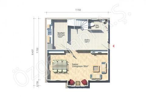Anemon 128 m2 - الطابق الأرضي