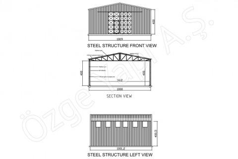 الهيكل الفولاذي 100 متر مربع