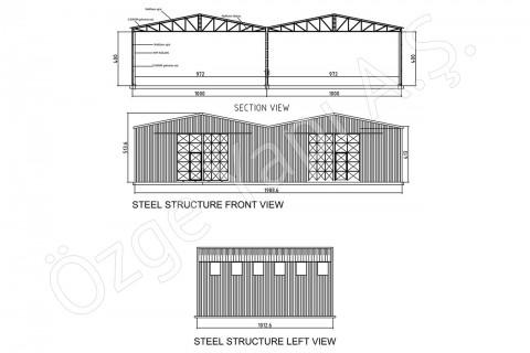 الهيكل الفولاذي 200 متر مربع