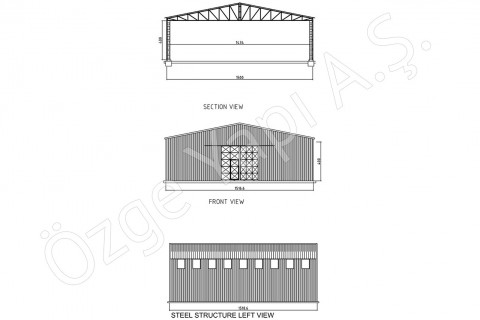 الهيكل الفولاذي 225 متر مربع