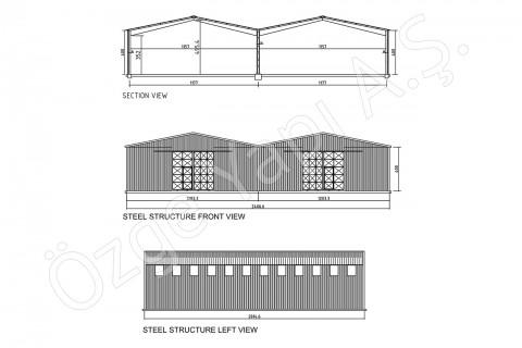 الهيكل الفولاذي 500 متر مربع