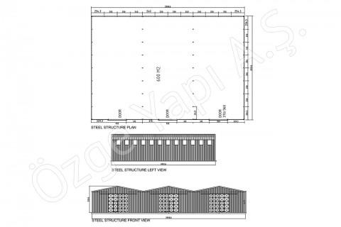 الهيكل الفولاذي 600 متر مربع