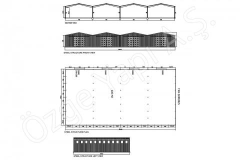 الهيكل الفولاذي 800 متر مربع