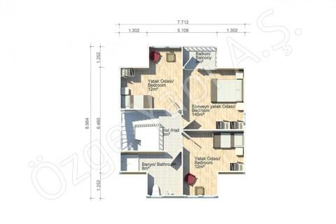 Erguvan 124 m2 - الطابق الاول