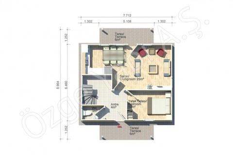 Erguvan 124 m2 - الطابق الأرضي