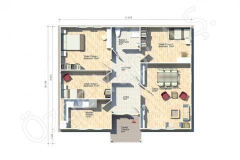 Kamelya 106  m2