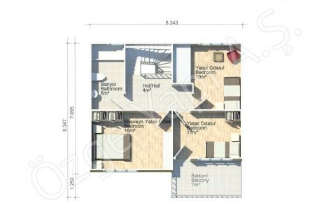Lilyum 136 m2 - الطابق الاول