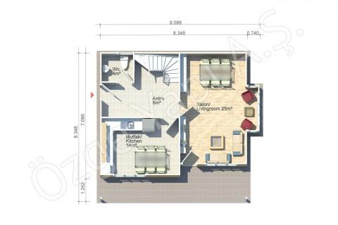 Lilyum 136 m2 - الطابق الأرضي