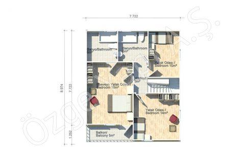 Margarit 140 m2 - الطابق الاول