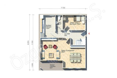 Margarit 140 m2 - الطابق الأرضي