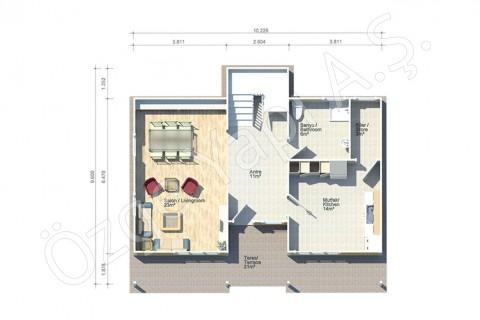 Orkide 159 m2 - الطابق الأرضي