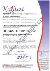 شهادة نظام الإدارة للصحة والسلامة في العمل